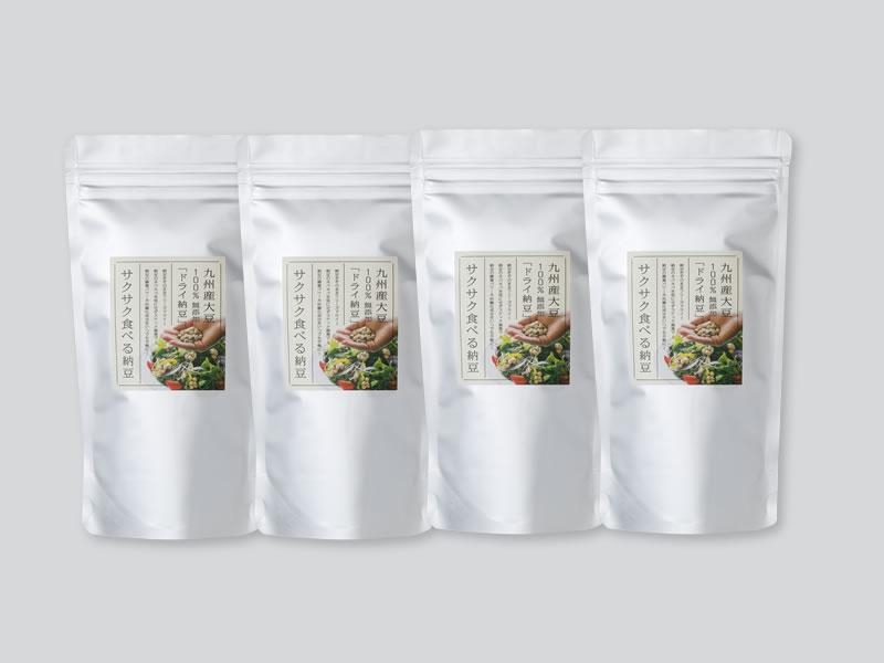 サクサク食べる納豆100g×4個セット