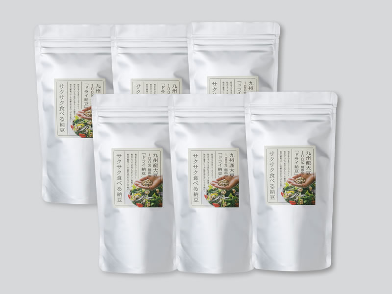 サクサク食べる納豆100g×6個セット